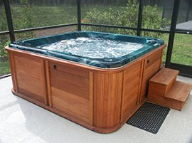 An Indoor Hot Tub Spa installed at a Northeast Ohio Residence