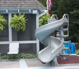 Water Slide Installed for Pro Pool & Spa Customer in Northeast Ohio